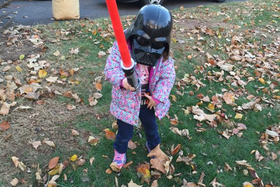 Little girl as Darth Vader