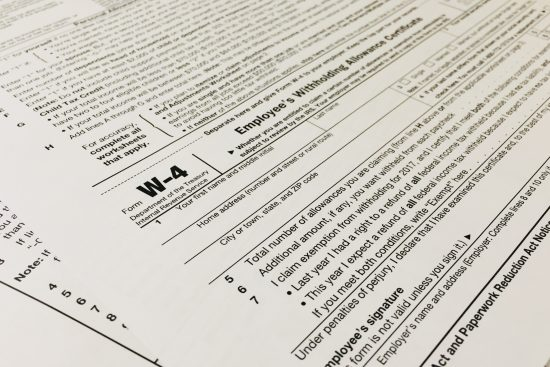 Form W-4 Withholding