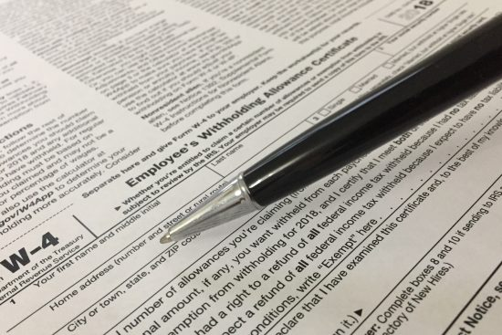 Form W-4 Employee Withholding