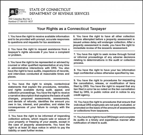 CT DRS Taxpayer Bill of Rights
