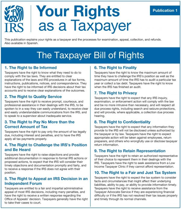 IRS Taxpayer Bill of Rights