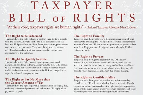 IRS Taxpayer Advocate Bill of Rights